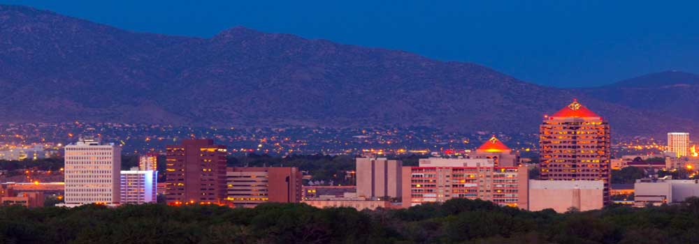 Picture of the Albuquerque Skyline at Dusk